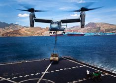 MV-22 Osprey does some heavy lifting  (U.S. Marine Corps photo by Pfc. Kasey Peacock)