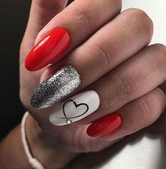 In seek out some nail designs and ideas for the nails? Listed here is our list of 27 must-try coffin acrylic nails for fashionable women. Red Nail Designs, Acrylic Nail Designs, Acrylic Nails, Coffin Nails, Heart Nail Designs, Acrylic Art, Fabulous Nails, Perfect Nails, Amazing Nails