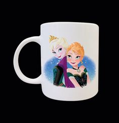 Disney Frozen Anna And Elsa Anime Carton Art by sugihharto on Etsy