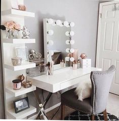 New Makeup Vanity Makeover Diy Spaces Ideas Ikea Shelves, Ikea Storage, Floating Shelves, Storage Ideas, Kitchen Storage, Bathroom Shelves, Shelf Ideas, Toy Storage, Bathroom Storage