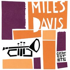 Miles Davis album cover by Saul Bass. trumpet