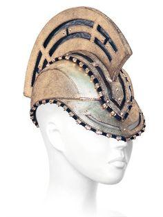 11d0c244a05 HOUSE OF MALAKAI Trojan leather hat