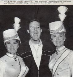 Martha Raye, Doris Day and Richard Chamberlain - on set of Jumbo 1962