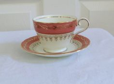 Vintage Aynsley Tea Cup and Saucer circa 1940 by TimeGoneByVintage, $33.00