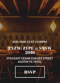 ZXZW: Zype @ SXSW 2016 Hangover Brunch & Anniversary Party | Sunday, March 13, 2106 | 12-3pm | Stay Gold: 1910 E. Cesar Chavez St., Austin TX 78702 | Free with RSVP: https://zype-sxsw-2016.splashthat.com/