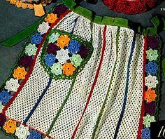 Ravelry: Dish Cloth Apron #FV-384 pattern by The Spool Cotton Company Crochet Wool, Crochet Chart, Free Crochet, Crochet Dish Towels, Crochet Dishcloths, Apron Pattern Free, Apron Patterns, Vintage Crochet Patterns, Crochet Kitchen