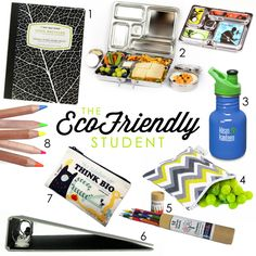 Eco Friendly School Supplies and Plastic-Free Lunches