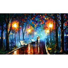 Misty Mood by Leonid Afremov- love looking at this every time my laptop starts up since it's my background