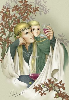 Ilxwing on deviantart. Legolas with his father, Thranduil. Legolas is sooooooo cute! Legolas And Thranduil, Tauriel, Aragorn, Kili, Mirkwood Elves, Anna Lee, Dragon Slayer, Elvish, Jrr Tolkien