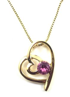 Double Heart Rose Crystal Pendant Necklace - Austrian Crystal Rose Gold Plating #UPSERA #Heart