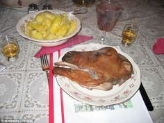 Smalahove, or sheep's head, is a Christmas treat in Norway. It is usually steamed for a few hours and served with potatoes