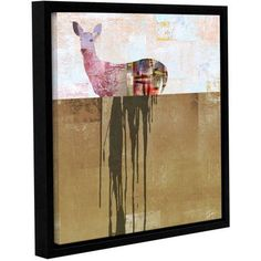 ArtWall Greg Simanson Dissolve I Gallery-Wrapped Floater-Framed Canvas, Size: 36 x 36, White