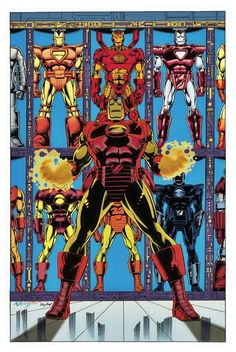 Genius billionaire inventor, industrialist, and CEO of Stark Industries Tony Stark builds an armored suit and becomes the armor-clad superhero named Iron Man. Comic Book Superheroes, Marvel Comic Books, Marvel Art, Marvel Heroes, Comic Books Art, Marvel Avengers, Iron Avenger, Iron Man Fan Art, Iron Man Tony Stark