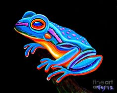 Teal Frog Painting by Nick Gustafson - Teal Frog Fine Art Prints and Posters for Sale