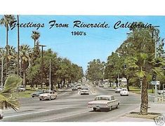 Riverside, CA Street Scene Refrigerator Tool Box Magnet Riverside California, Southern California, San Bernardino Mountains, Back In The Day, Small Towns, 1960s, Empire, Street View, Scene