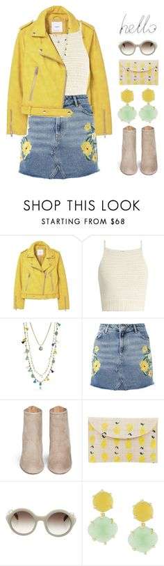 """""""Jennifer"""" by brie-the-pixie on Polyvore featuring MANGO, SHE MADE ME, Tory Burch, Topshop, Aquazzura, Kayu, Prada, Rosantica and outfit"""
