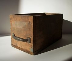 Vintage industrial wood box from urgestudio on etsy