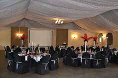 Black, white and red theme matric farewell
