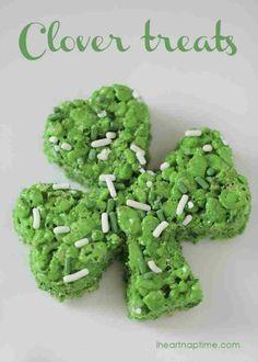 How To Make Four Leaf Clover Treats | Easy DIY Four Leaf Clover Dessert Recipe. http://diyready.com/21-seriously-delicious-green-desserts/