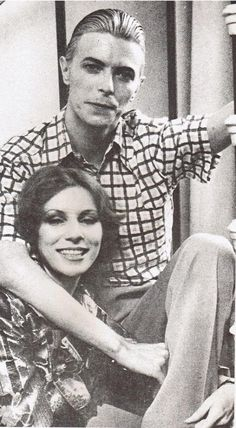 Bowie and Angie,She always looks different..