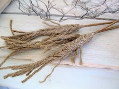 homemade wheat stalks out of twine