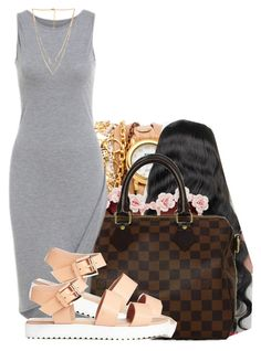 677 by tuhlayjuh on Polyvore featuring polyvore, fashion, style, Louis Vuitton, La Mer, Forever 21 and Gasoline Glamour