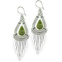 Peruvian Serpentine Chandelier Earrings at The Autism Site $9 today from Fair Trade category (South America) #specials #jewelry