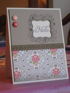 So sweet! A similar look can be created using Spellbinders Labels One and Banner Basics Two!