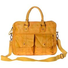580-1098 Timeless Bag Saffron Yellow ($275) ❤ liked on Polyvore featuring bags, handbags, leather handbags, leather bags, yellow bag, yellow leather handbag and leather shoulder strap handbags