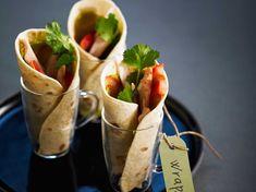 Découvrez la recette Wrap au poulet et guacamole sur cuisineactuelle.fr.