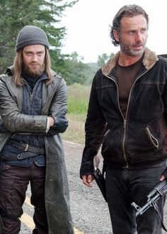 Jesus and Rick in The Walking Dead Season 6 Episode 12 | Not Tomorrow Yet