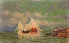 Fishing Boats on the Coast of Labrador, Oil On Canvas by William Bradford (1590-1657, United Kingdom)