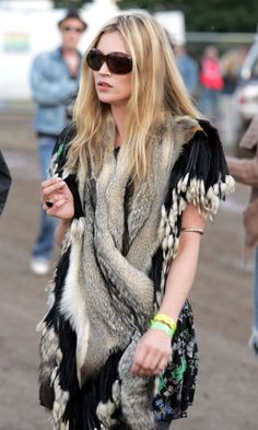 Kate Moss At Glastonbury Festival, 2004