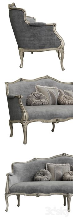 Grey Furniture, French Furniture, Classic Furniture, Home Decor Furniture, Luxury Furniture, Furniture Makeover, Furniture Design, Antique Furniture, Classic Sofa