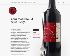 Jax Vineyards: FF Tisa, FF DIN An early favorite… Web Design Gallery, Web Design Trends, Web Design Inspiration, Typography Magazine, Design Theory, Article Design, Wine Online, Showcase Design, Minimal Design
