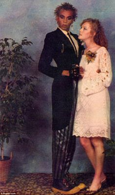 Photographs that probably didn't make it to the family album... the downright strange prom photographs that really capture those awkward teenage years.
