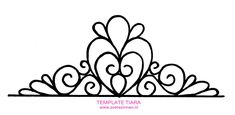 9 Best Images of Fondant Princess Template Printable - Fondant Princess Crown Template, Fondant Tiara Template Printable and Fondant Princess Crown Template Fondant Crown, Crown Cake, Tiara Cake, Royal Icing Templates, Cake Templates, Piping Templates, Fondant Tips, Fondant Tutorial, Crown Pattern