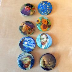 """teenbun: """"new cute lil art pins 🐣 """" Ravenclaw, Badges, Arte Van Gogh, Art Hoe Aesthetic, Cool Pins, Pin And Patches, Art Plastique, Vincent Van Gogh, Pin Collection"""