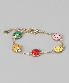 Take a look at this Red & Gold Ladybug Bracelet by Fuzion Creations on #zulily today!