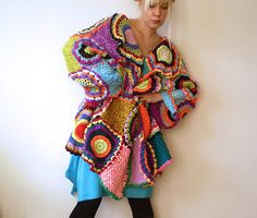 Plus Size Women's Cardigan Sweater with Crochet by subrosa123