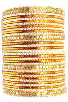 utopiajdesigns.com: Bangles Set Orange [KP 1032]  [KP 1032]  $24.00
