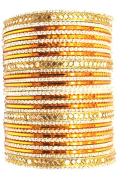 utopiajdesigns.com: Bangles Set Orange [KP 1032]  [KP 1032]  $24.00