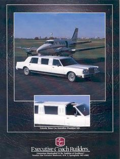 1986 Lincoln Continental Towncar Executive President Limousine by Executive Coach Builders  / Brochure