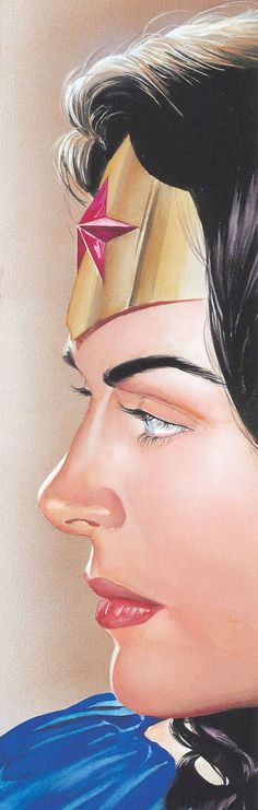 Wonder Woman by Alex Ross One of the first images on here where the woman heroine looks like a woman, not a sex object.:)