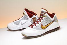 4355661b748 Nike Air Max Lebron 7 NFW White Bronze  MVP