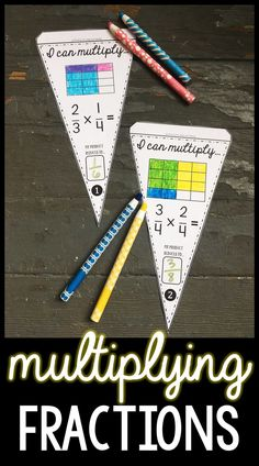 Kids love it when their work is displayed, and what's better than combining that student work with classroom decor? There are over 100 math pennants in this post that combine showing off student work with math classroom decor, like this set for showing fraction multiplication through the area model. More at scaffoldedmath.com Teaching 5th Grade, 5th Grade Math, Teaching Math, Multiplying Fractions, Multiplication, Math Classroom Decorations, 5th Grades, Student Work, Percents