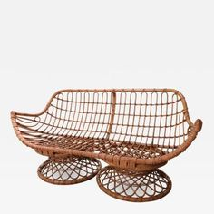 A Bamboo Sofa , Italy 1950 offered by Jon Urgoiti on InCollect Bamboo Sofa, Wicker, Decorative Bowls, Italy, Sculpture, Chair, Furniture, Home Decor, Italia