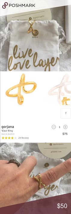 Gorjana Elea Ring Like new condition, gold, size 7 Gorjana Jewelry Rings