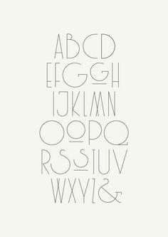 The Herston Self-balancing Desk Lamp: beautifully designed &.- The Herston Self-balancing Desk Lamp: beautifully designed & delicately engineered Beautiful Typography Alphabet Design - Bauhaus Typography, Art Deco Typography, Cute Typography, Design Typography, Modern Typography, Typography Letters, Typography Poster, Logo Design, Art Deco Font