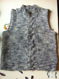 knitted ladies waistcoat